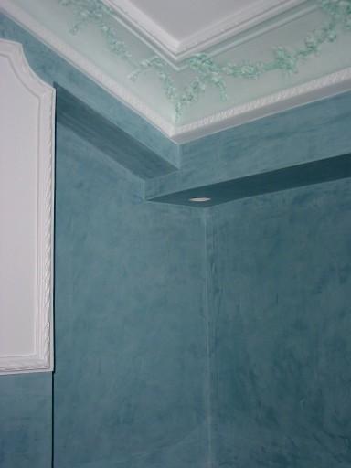 Pintura estuco azul 04 pictor decoris - Pinturas estuco veneciano ...