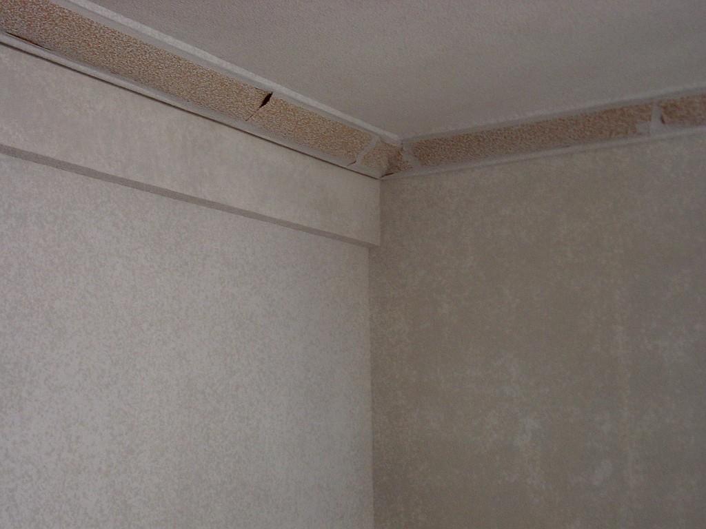 Pintura gotel detalle esquina techo pictor decoris - Papel pintado gotele ...