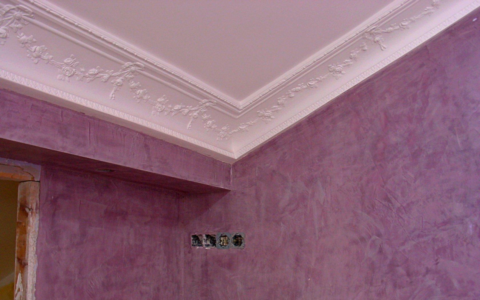 Estuco t cnicas de pintura pictor decoris - Decorar paredes de gotele ...